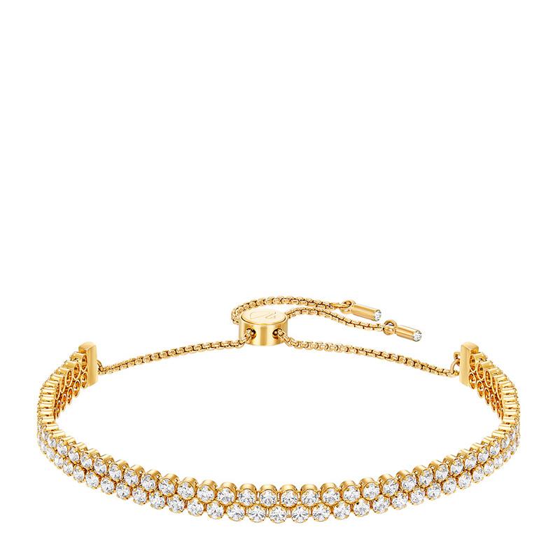 add35010af996 Swarovski 施华洛世奇金色闪亮双层水晶手链5245530-友阿海外购